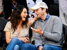 Мила Кунис и Эштон Катчер страстно целовались на баскетбольном матче - ФОТО: Фоторепортажи