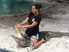 Беременная американка укрощает аллигаторов - ФОТО: Фоторепортажи
