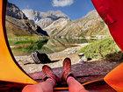 Завораживающее зрелище: утренние виды из палатки - ФОТО: Фоторепортажи