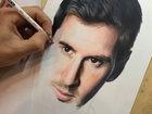 Портрет Лионеля Месси цветными карандашами - ВИДЕО : Видеоновости