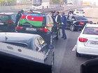 Azərbaycanlıların toy karvanı Moskvada yolu bağladı - VİDEO: Видеоновости