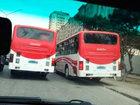 Водитель автобуса играет со смертью на оживленной дороге в Баку - ВИДЕО: Видеоновости