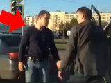 Водитель BMW наказал наглого мужчину посреди улицы - ВИДЕО: Это интересно