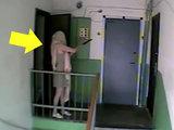 Камера засняла соседку в необычном виде - ВИДЕО: Это интересно