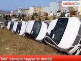 Перевернулся трейлер, везущий автомобили в Азербайджан - ВИДЕО: Общество