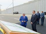 Президент Ильхам Алиев принял участие в открытии в Баку дорожного узла - ФОТО: Политика