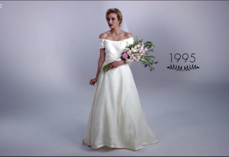 """Вот как менялось свадебное платье за последние 100 лет <span class=""""color_red"""">- ВИДЕО</span>"""