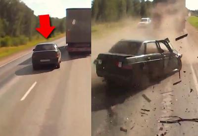 "Водитель погиб на месте после чудовищного ДТП <span class=""color_red"">- ВИДЕО </span>"
