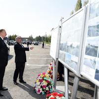 Президент Ильхам Алиев принял участие в открытии реконструированной автомобильной дороги Гейчай-Уджар