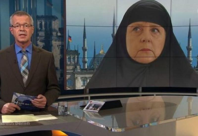 Карикатура на Меркель вызвала политический скандал