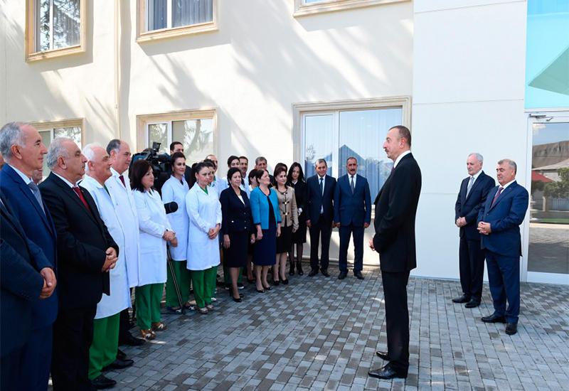 """Президент Ильхам Алиев: """"В Азербайджане создаются медицинские центры, отвечающие самым высоким мировым стандартам"""""""