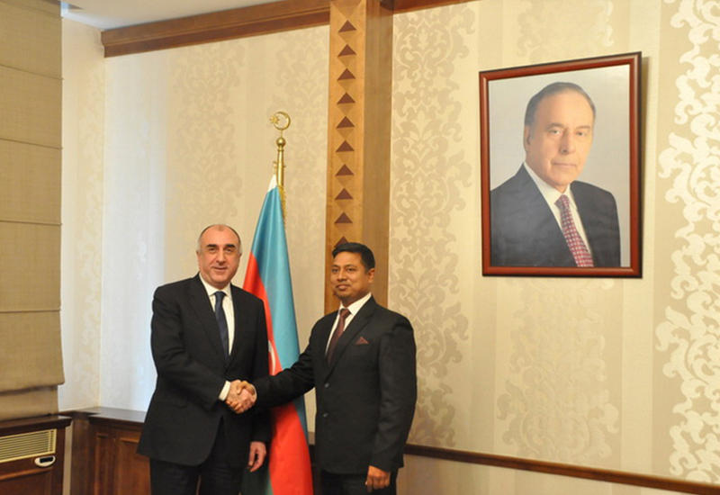 """Мамедъяров на встрече с новым послом Индии <span class=""""color_red"""">- ФОТО</span>"""