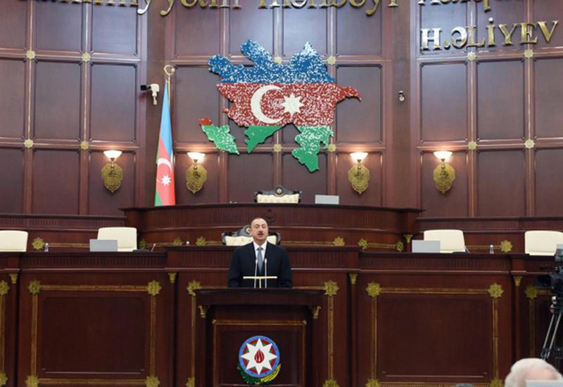 """Президент Ильхам Алиев: """"Некоторые предпочитают молчать, а мы говорим свое слово"""""""