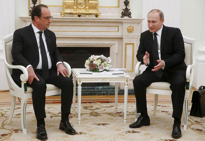 Путин: теракты заставляют Россию и Францию объединять усилия