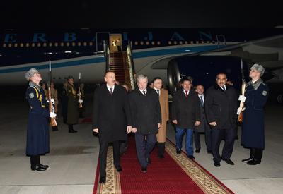 Президент Ильхам Алиев прибыл с официальным визитом в Беларусь