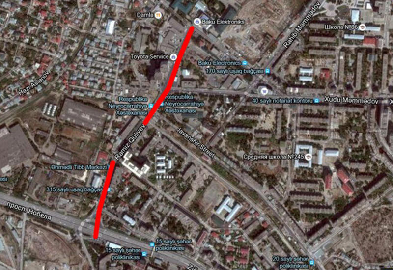"""В Баку перекрыли всю дорогу. Мучаются пассажиры <span class=""""color_red"""">- ФОТО</span>"""