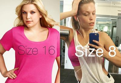 """Плюс-сайз модель устала быть толстой и похудела на 8 размеров <span class=""""color_red"""">- ФОТО</span>"""