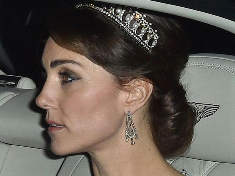 Кейт Миддлтон появилась наприеме в известной тиаре принцессы Дианы
