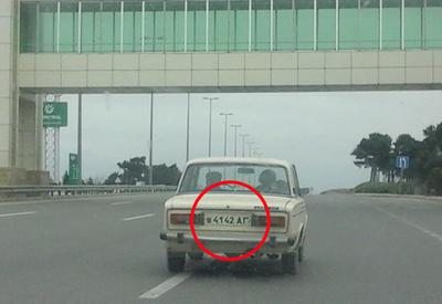 """В Баку замечен автомобиль с необычным номером <span class=""""color_red"""">– ФОТО</span>"""