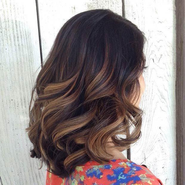 Модный темный цвет волос