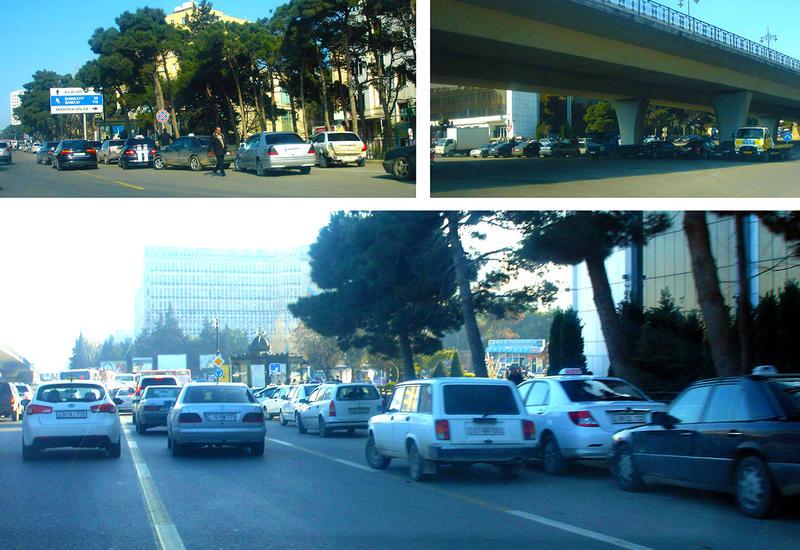 """Таксисты блокируют одну из главных дорожных артерий Баку <span class=""""color_red"""">- ФОТО</span>"""