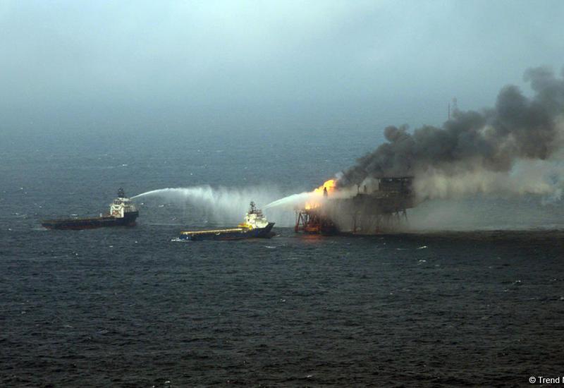 """Пожар на """"Гюнешли"""" полностью потушен"""