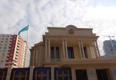 """Посольство Казахастана в Баку переехало в новое здание <span class=""""color_red"""">- ФОТО</span>"""