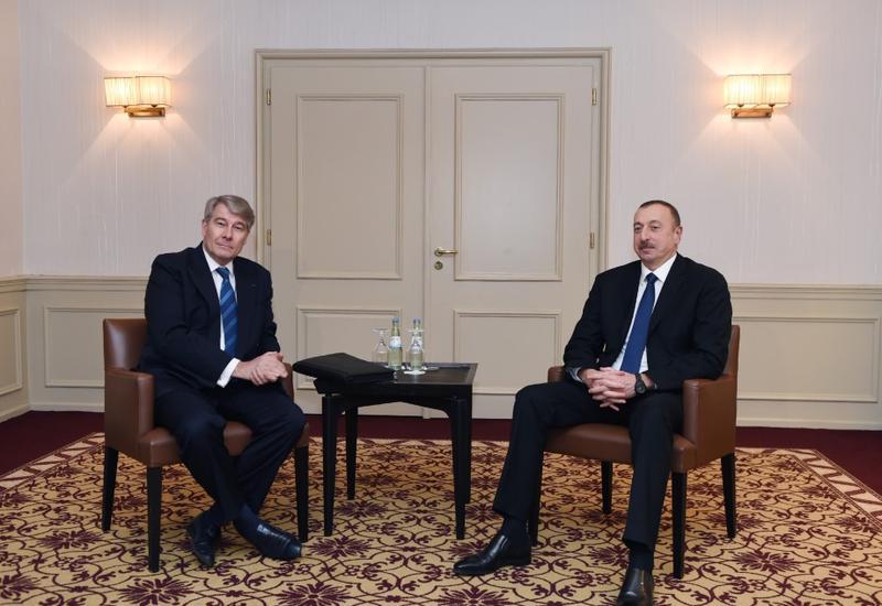 Президент Ильхам Алиев встретился с главой Восточного комитета германской экономики