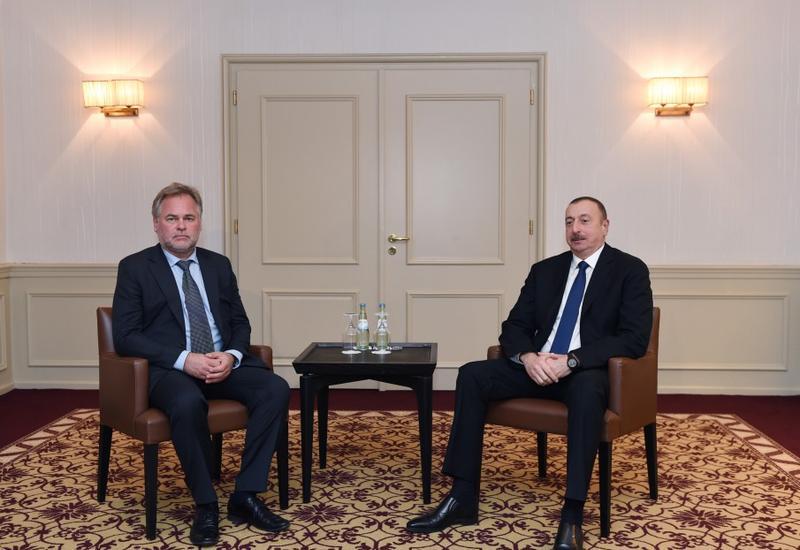 """Президент Ильхам Алиев встретился с владельцем компании """"Kaspersky Lab"""""""