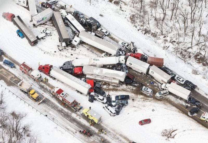 """В Пенсильвания столкнулись более 50 машин <span class=""""color_red"""">- ФОТО</span>"""