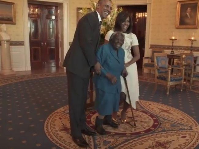 106-летняя бабушка отметила «черную историю» танцем с Обамой