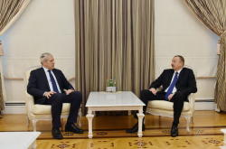Президент Ильхам Алиев принял бывшего Президента Сербии Бориса Тадича