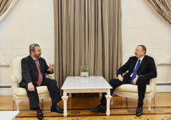 Президент Ильхам Алиев принял бывшего премьер-министра Израиля Эхуда Барака