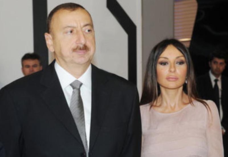 """Президент Ильхам Алиев и его супруга Мехрибан Алиева приняли участие в открытии новых центров Министерства связи и высоких технологий <span class=""""color_red"""">- ФОТО</span>"""