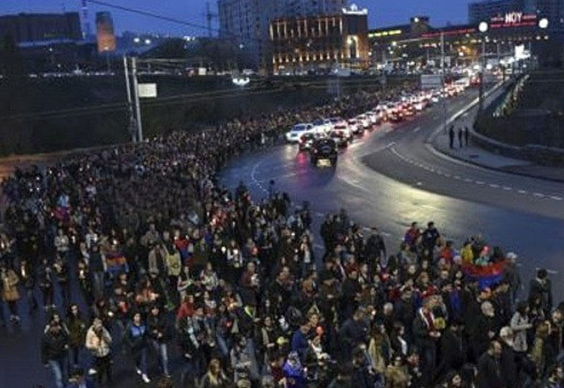 В Ереване начался митинг в поддержку террористов