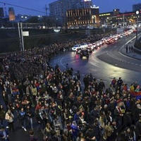 Митинг в поддержку террористов в Ереване