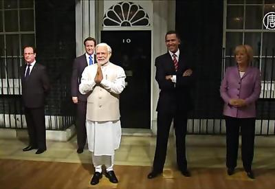 """В Лондоне сделали восковую фигуру индийского премьера <span class=""""color_red"""">- ВИДЕО</span>"""