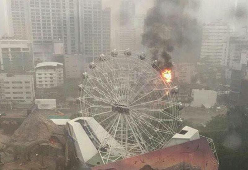 Пожар произошел на колесе обозрения в Бангкоке