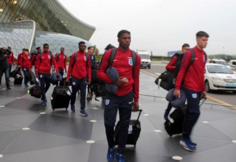 Сборная Англии прибыла в Баку
