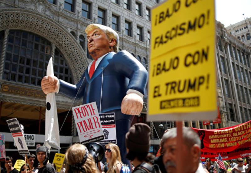 Первомайские демонстрации в Калифорнии обернулись шествиями против Трампа