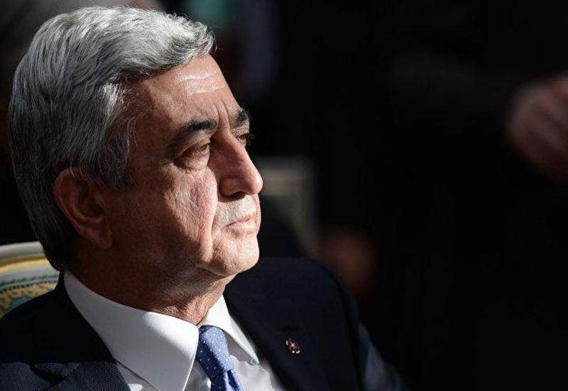 """Erməni müxalifəti Sarqsyanı """"vurdu"""""""