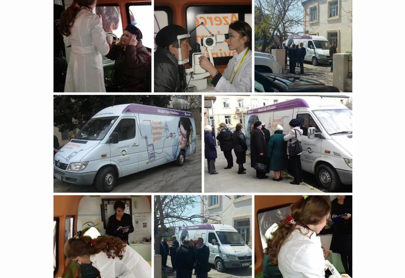 В апреле Azercell организовала бесплатное обследование зрения около 250 пациентам