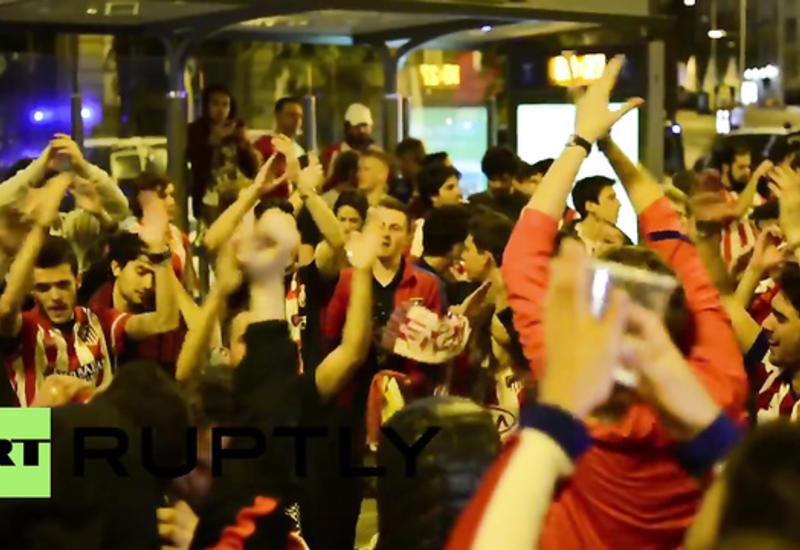 """Вот так фанаты """"Атлетико"""" отпраздновали выход команды в финал ЛЧ <span class=""""color_red"""">- ВИДЕО</span>"""