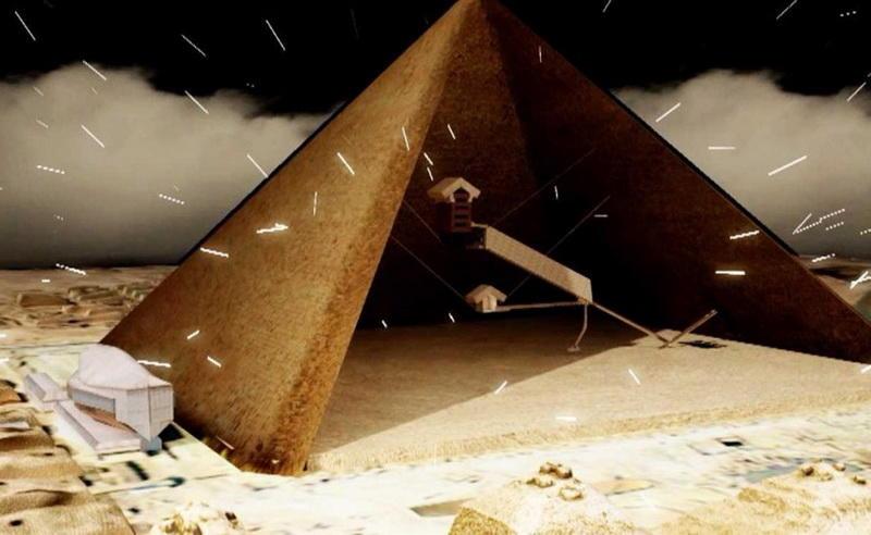 Ученые сканируют египетские пирамиды при помощи космических частиц