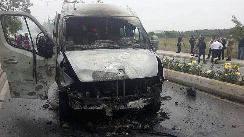 Заминированный автомобиль взорвался увоенного объекта вСтамбуле