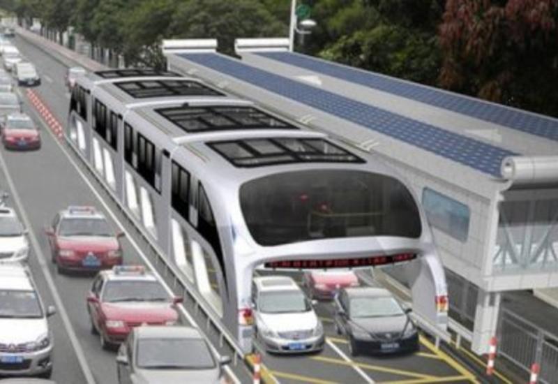"""В Китае появится """"летающий"""" автобус <span class=""""color_red"""">- ВИДЕО</span>"""