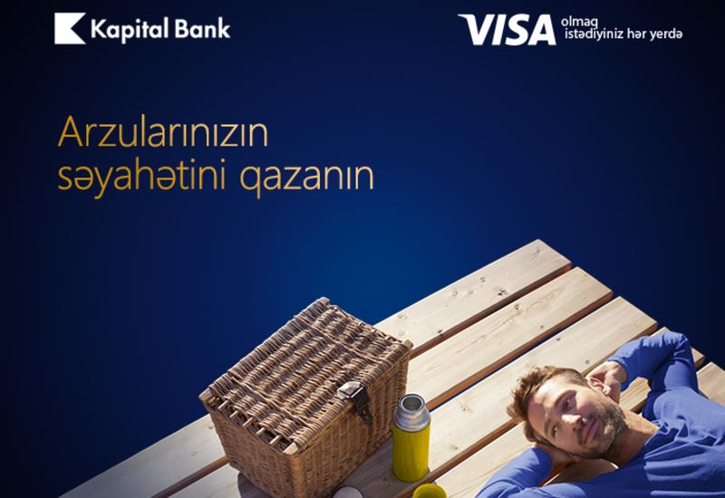 «Выиграйте путешествие мечты» с платежными картами Visa от Kapital Bank