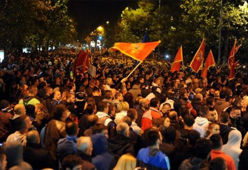 """Черногорцы протестуют против вступления страны в НАТО <span class=""""color_red"""">- ВИДЕО</span>"""