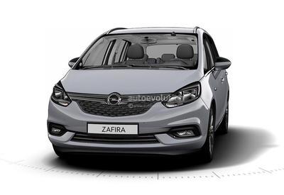 GM по ошибке рассекретил внешность обновленного Opel Zafira