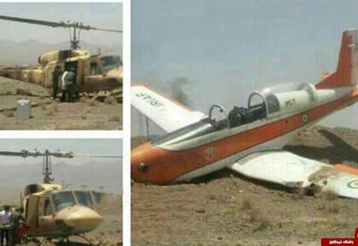 В Иране разбился военный самолет